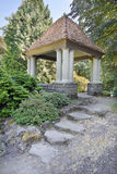 Gazebo with Natural Stone Steps Royalty Free Stock Image