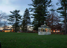 Gazebo at night. Gazebo in small park at night Royalty Free Stock Image