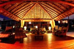 Gazebo at night in Arraial d'Ajuda Eco Resort Stock Images