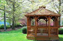 Gazebo no parque Foto de Stock Royalty Free