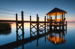 Gazebo North Carolina Outer Banks Pamlico Sound Stock Photo