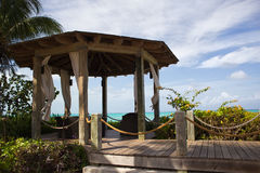 Gazebo by the ocean Stock Images