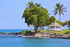 Gazebo ocean cliff Hawaii Royalty Free Stock Photography