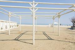 Gazebo op het strand Stock Fotografie