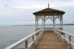 Gazebo over water Stock Photos