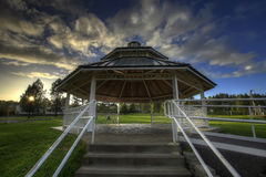 Gazebo at the Park. Gazebo in Outdoor Public Park at Sunset Royalty Free Stock Photography