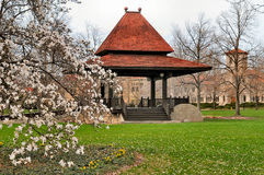 Gazebo in the park. Image of a gazebo in a park settting Royalty Free Stock Images