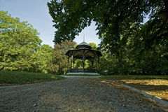 Gazebo in park Stock Image
