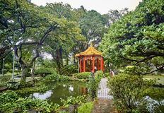 Gazebo in the park in the center of Taipei you can rest. Gazebo in the park in the center of Taipei Taiwan you can rest Stock Photography