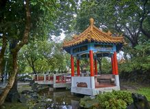 Gazebo in the park in the center of Taipei you can rest. Gazebo in the park in the center of Taipei Taiwan you can rest Stock Images