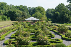 Gazebo in a Park  Garden. A park gazebo surrounded by well manicured gardens Stock Images
