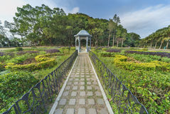 Gazebo in park. Gazebo in green park in summertime royalty free stock photography