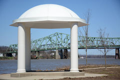 Gazebo. At a park on the Ohio River Stock Images