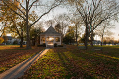 Gazebo in a Park. Photo of a gazebo in a park as dusk begins to settle in Stock Images