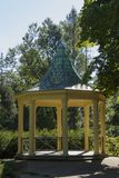 Gazebo in a park in Tyrs set. Photo taken on Sept. 17, 2015 in Jablonec nad Nisou, Czech Republic, gazebo located in the middle of the city set Tyrs Royalty Free Stock Image