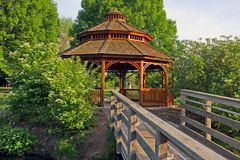 Gazebo in a park Stock Image