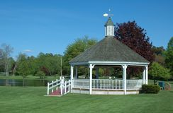 Gazebo at Patton Park Royalty Free Stock Photos