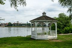 Gazebo on the Riverside. A gazebo or pavilion on the banks of the Susquehanna River in Harrisburg, Pennsylvania Stock Photography
