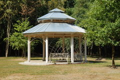 Gazebo, pergola in parks and gardens - relax and unwind Royalty Free Stock Photo