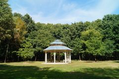 Gazebo, pergola in parks and gardens - relax and unwind Royalty Free Stock Image