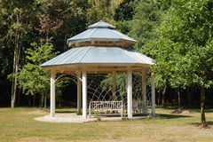 Gazebo, pergola in parks and gardens - relax and unwind Stock Photography