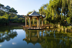 Gazebo on a pond Royalty Free Stock Photo