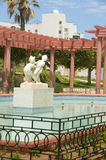 Gazebo pool fountain Oasis Park Sousse Royalty Free Stock Image