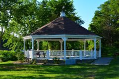 Gazebo. Public gazebo in a park on a warm summer evening Royalty Free Stock Photos