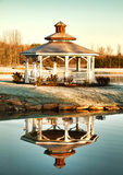 Gazebo and reflection Stock Image