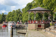 Gazebo at the River Dee Quayside. Chester. England Stock Image