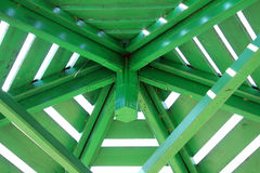 gazebo roof construction Stock Images