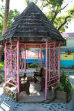 Gazebo rosa caraibico Immagini Stock