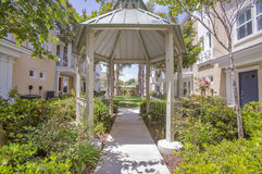 Gazebo in San Diego apartment complex. Outdoors in Southern California homes ready for real estate listings Royalty Free Stock Image