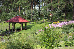 Gazebo in the Sanatorium Russia Stock Photos