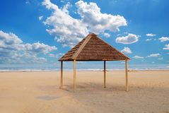 Gazebo on the sand Royalty Free Stock Image