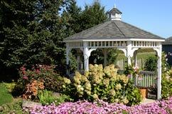 Gazebo Scene. An image of a classic gazebo with garden shot near Intercourse, PA in September 2015 Stock Image