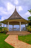 Gazebo by the sea Stock Image