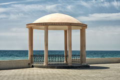 Gazebo by the sea. Royalty Free Stock Photography