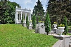 Gazebo in the Spa Park of Kislovodsk in the Valley of roses royalty free stock photos
