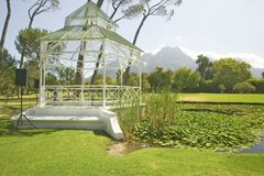 Gazebo in Stellenbosch wine region, outside of  Cape Town, South Africa Royalty Free Stock Photo