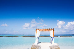 Gazebo su Kurumba, Maldive Fotografie Stock