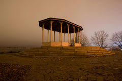 Gazebo at sunset. Kiev. Fall Royalty Free Stock Photo