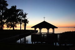 Gazebo Sunset Tarpon Springs (FL) Stock Photos