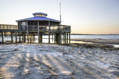Gazebo sur le compartiment de chesapeake Photo stock