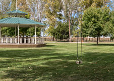 Gazebo and swing Stock Image