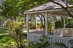 Gazebo in Tropical Garden Stock Photo