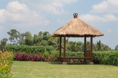 Gazebo on the tropical garden Royalty Free Stock Photos