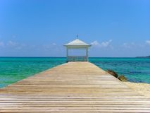 Gazebo tropical Nassau d'île Photo libre de droits