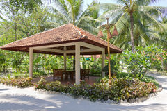 Gazebo in tropical park Stock Photography