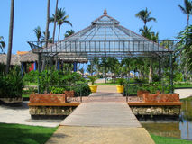 Gazebo tropicale fotografia stock